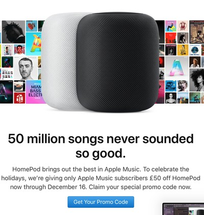 homepod holiday discount