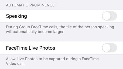 facetimeautomaticprominence