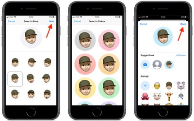 how to create a custom memoji imessage profile in ios 13