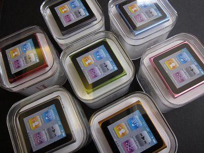 104709 6gen ipod nano unbox colors