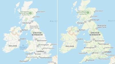 UK Ireland Apple Maps Revamp