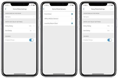 ring app mode settings