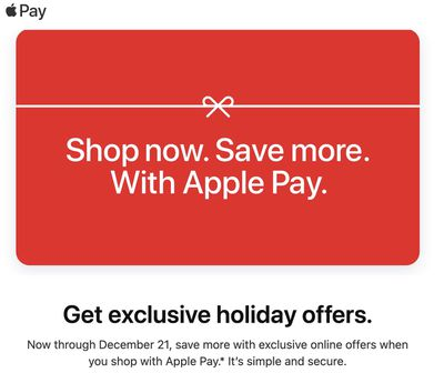 apple pay holiday offers