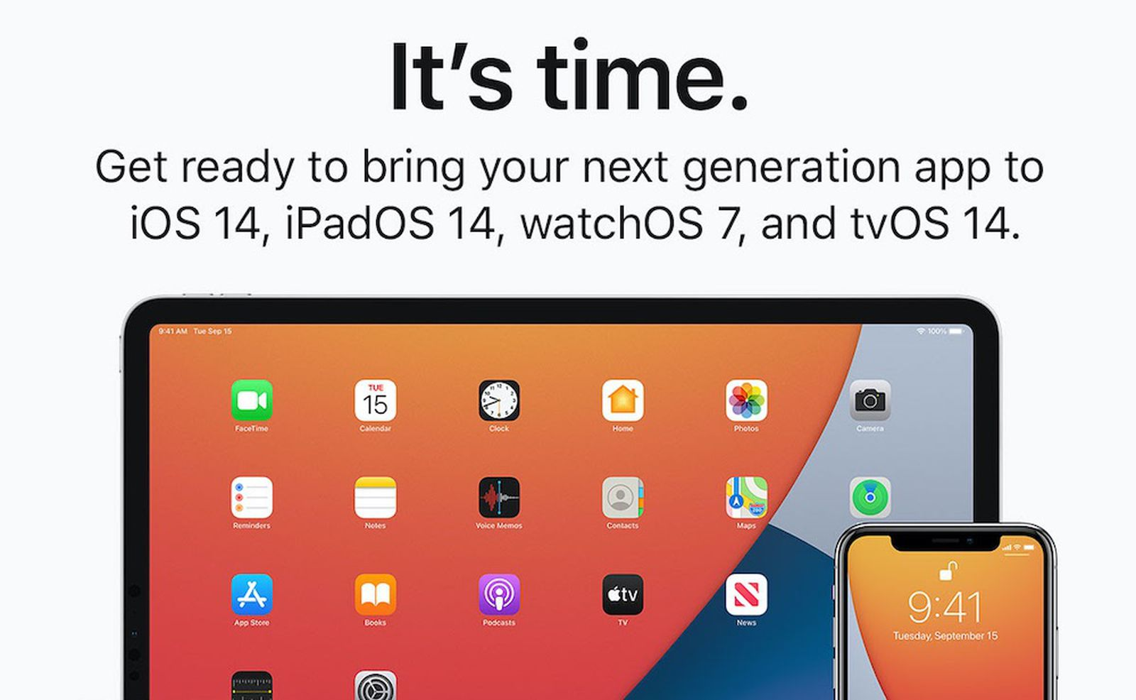 ios 14 submit apps banner.'