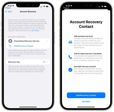 account recovery contact