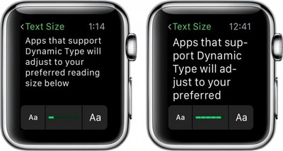 Apple Watch Larger Font