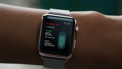 Tesla Apple Watch App