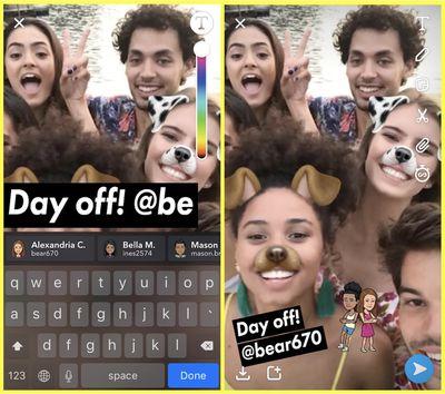 snapchat at mentions