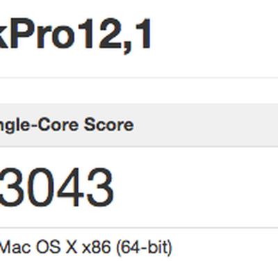 MacBook Pro Benchmark 2015