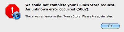 itunes download errors