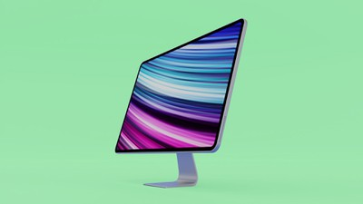 2020 iMac Mockup Feature teal