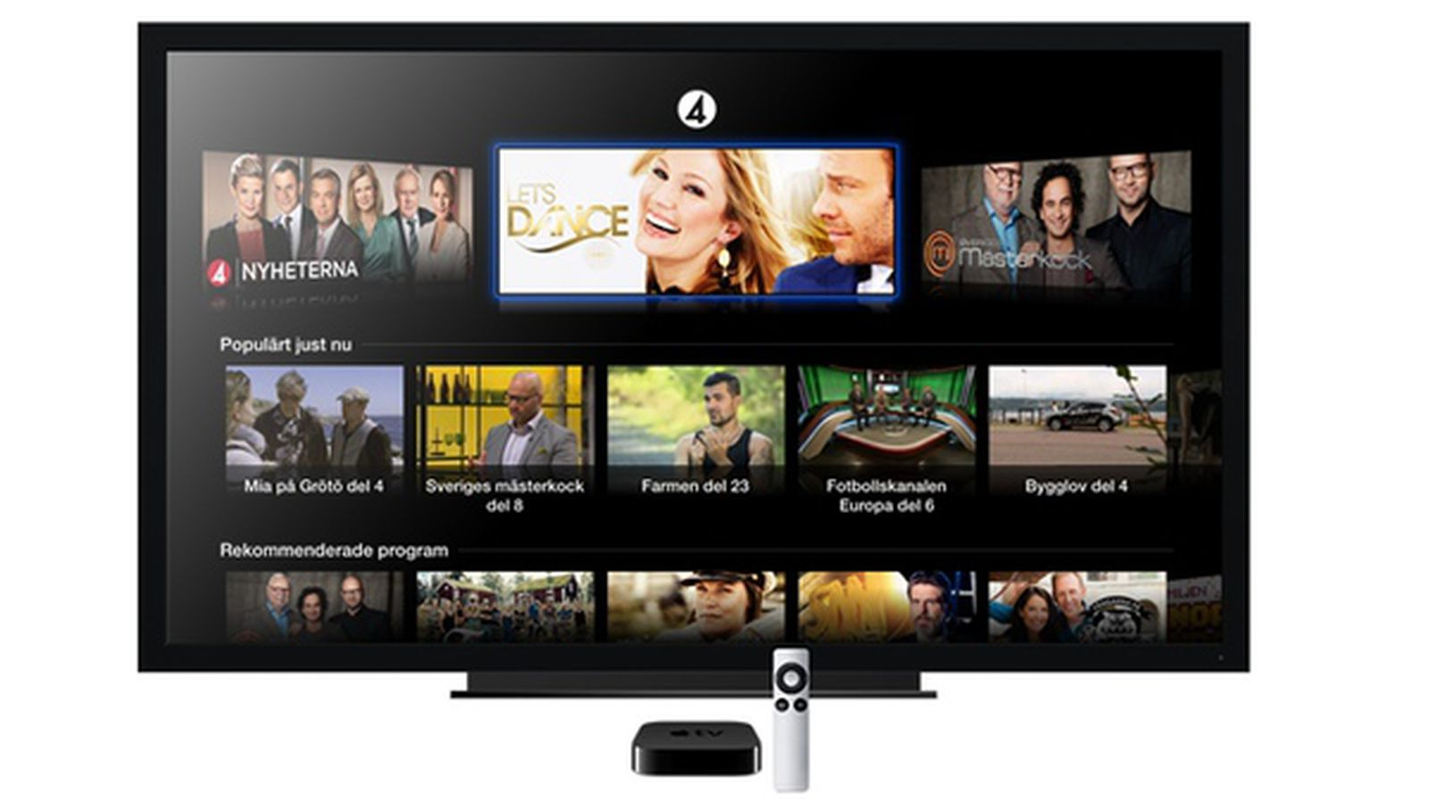 Apple Adds Streaming Television Channel Tv4 Play To Apple Tv In Sweden Macrumors