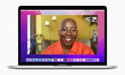 Portrait mode of macOS Monterey FaceTime