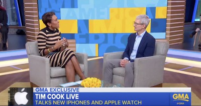 tim cook gma image