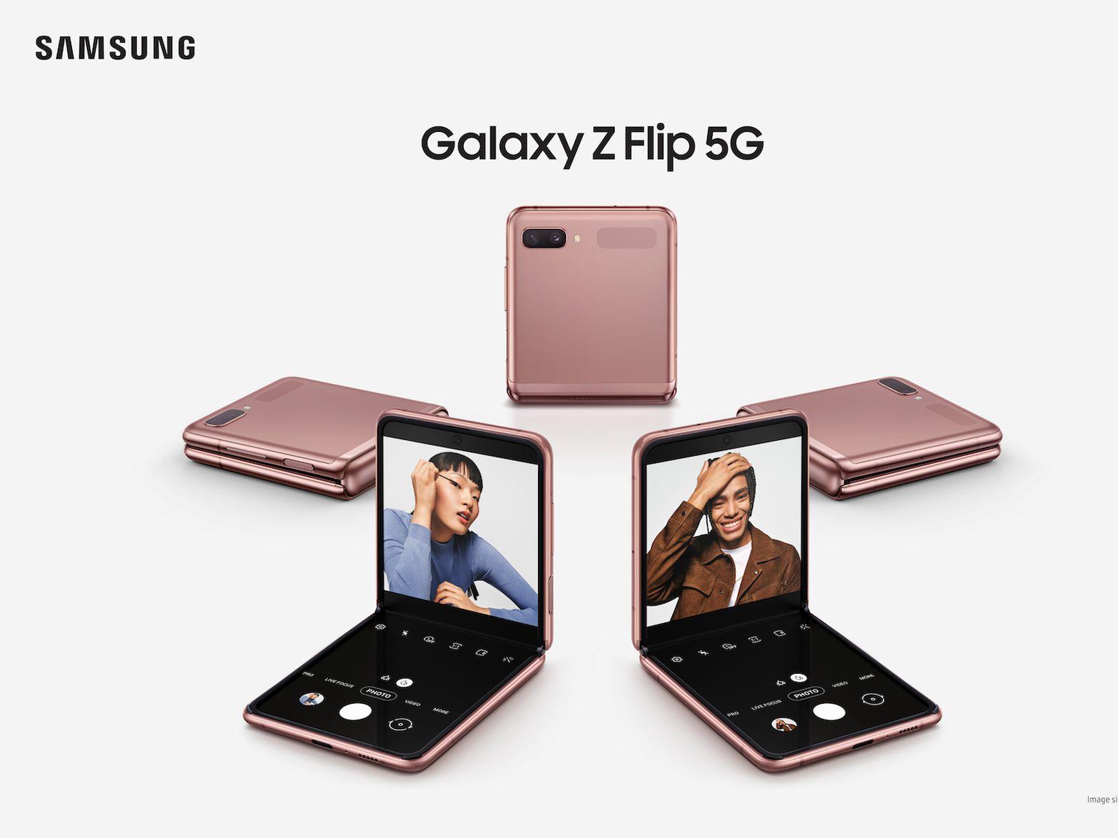 Samsung Announces Galaxy Z Flip 5g Smartphone Starting At 1 449 99 Macrumors