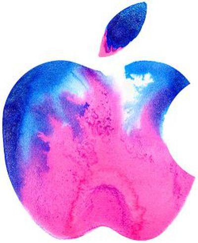 apple logo pink blue brooklyn