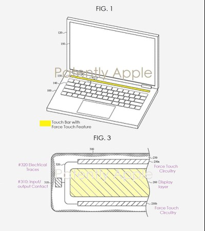 MacBook Touch Bar with Force Touch sensors e1606470850563
