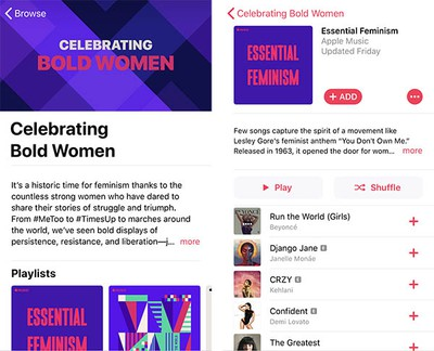 bold women apple music