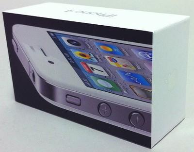 142239 white iphone 4 box