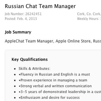 russia job
