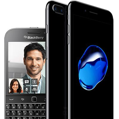 blackberry vs iphone 7 plus