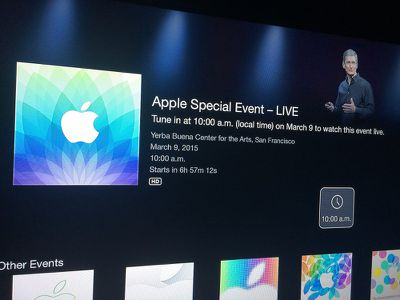 Apple TV Live Event