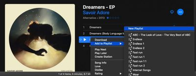 create a playlist apple music itunes