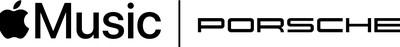 Cooperation logo Porsche and Apple Music