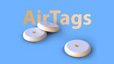 Titre bleu AirTags