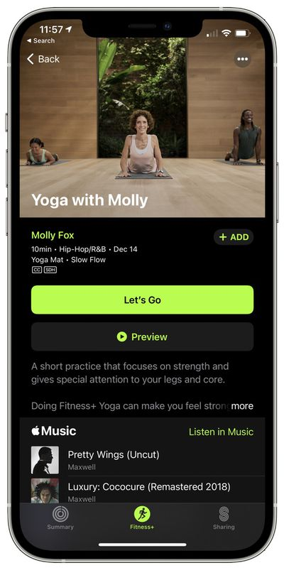 apple fitness plus workout