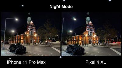 pixel4iphone11nightmode