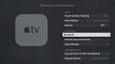 Remove AirPods from Apple TV 2