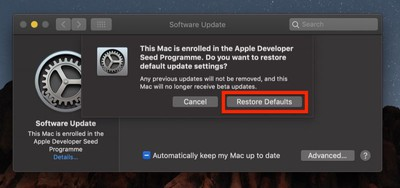 stop receiving beta macos mojave02