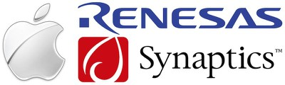 apple_renesas_synaptics_logos