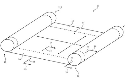 apple patent rollable display