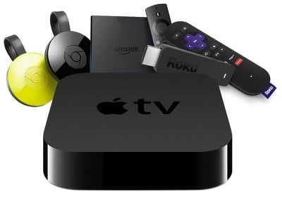 apple tv vs roku chromecast fire tv