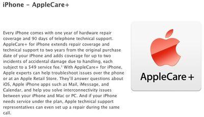 applecare plus iphone