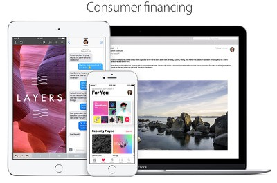 apple consumer financing
