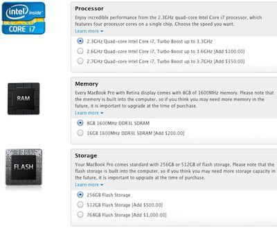 retina macbook pro full customization