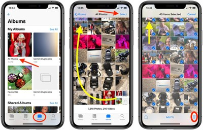 how to delete all photos iphone 2
