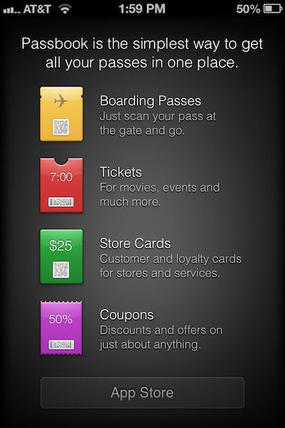 passbook app store link