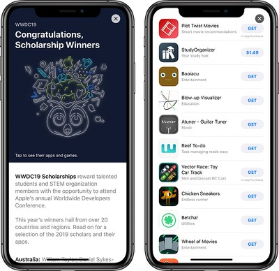 wwdc 2019 scholarship winners app store