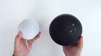 homepod mini amazon echo size