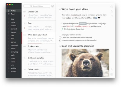 Bear Notes Mac