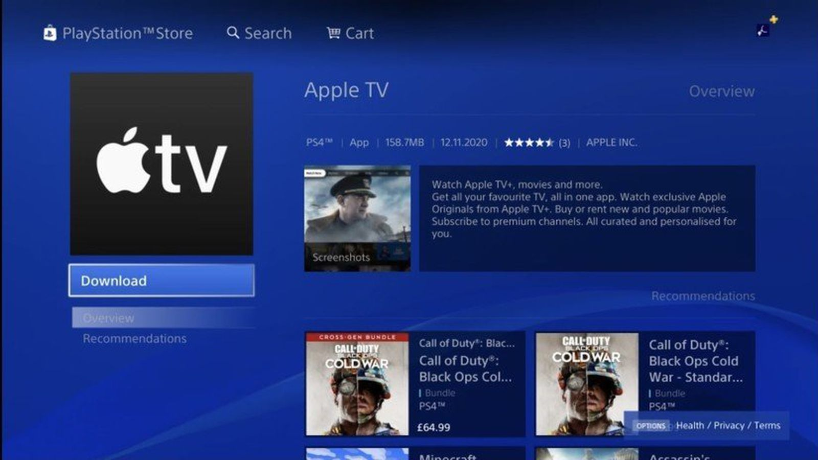 Apple TV App Now Available to Download on PlayStation 4 and PlayStation 5 -  MacRumors