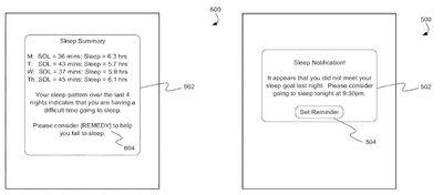 sleep tracking patent