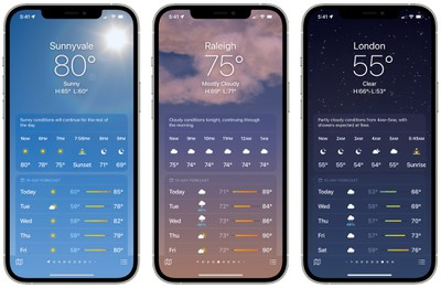 ios 15 weather app backgrounds