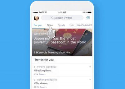 twitter explore tab topics