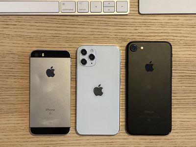 Original iPhone SE, iPhone 7, iPhone 12