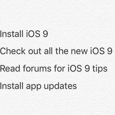 ios 9 ipad notes list